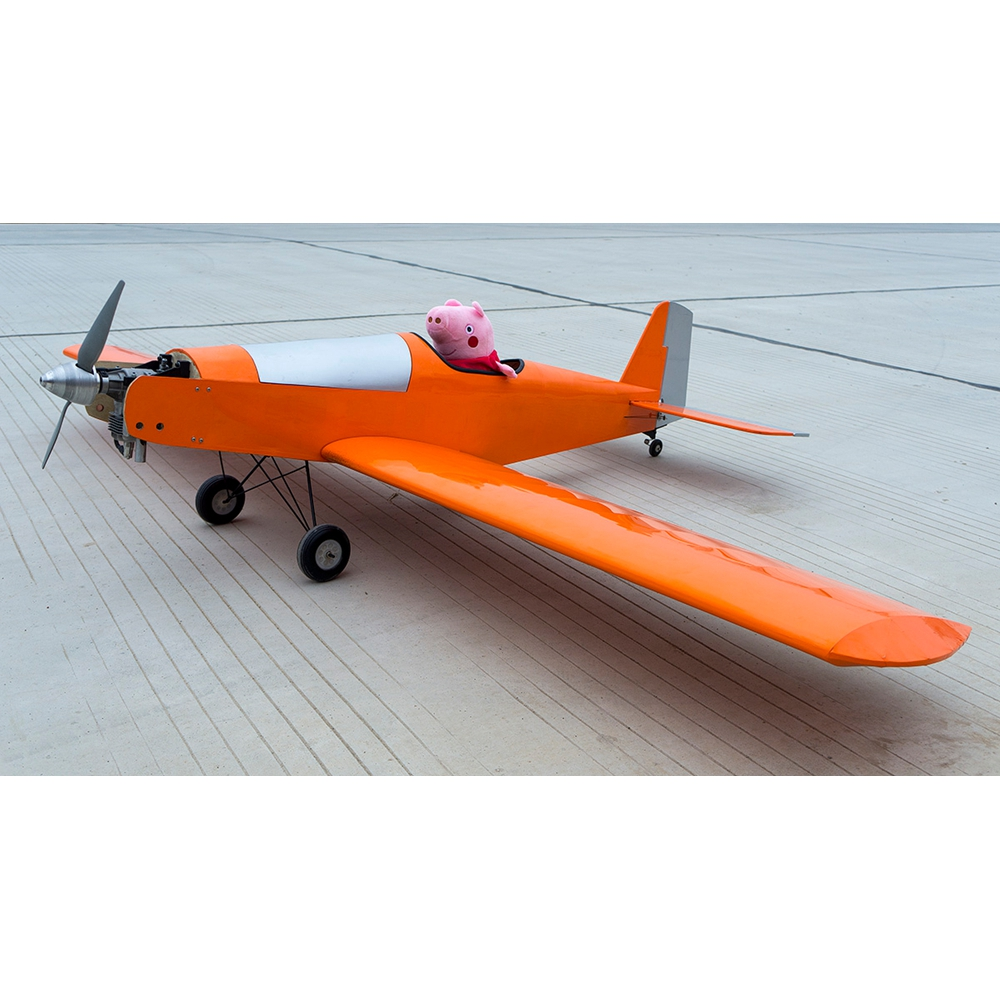 T90-Tractors 2.1M Gas Powered Fixed Wing KIT 2130mm Wingspan Light Wood Balsa Oil RC Trainer Airplane KIT - Photo: 3