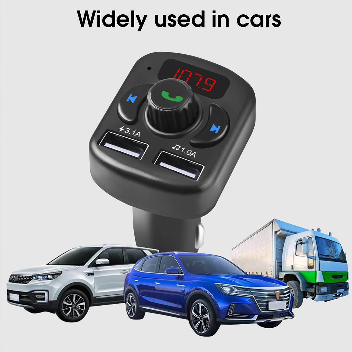 Car Charger MP3 Player Multi-function bluetooth Hands-free Receiver