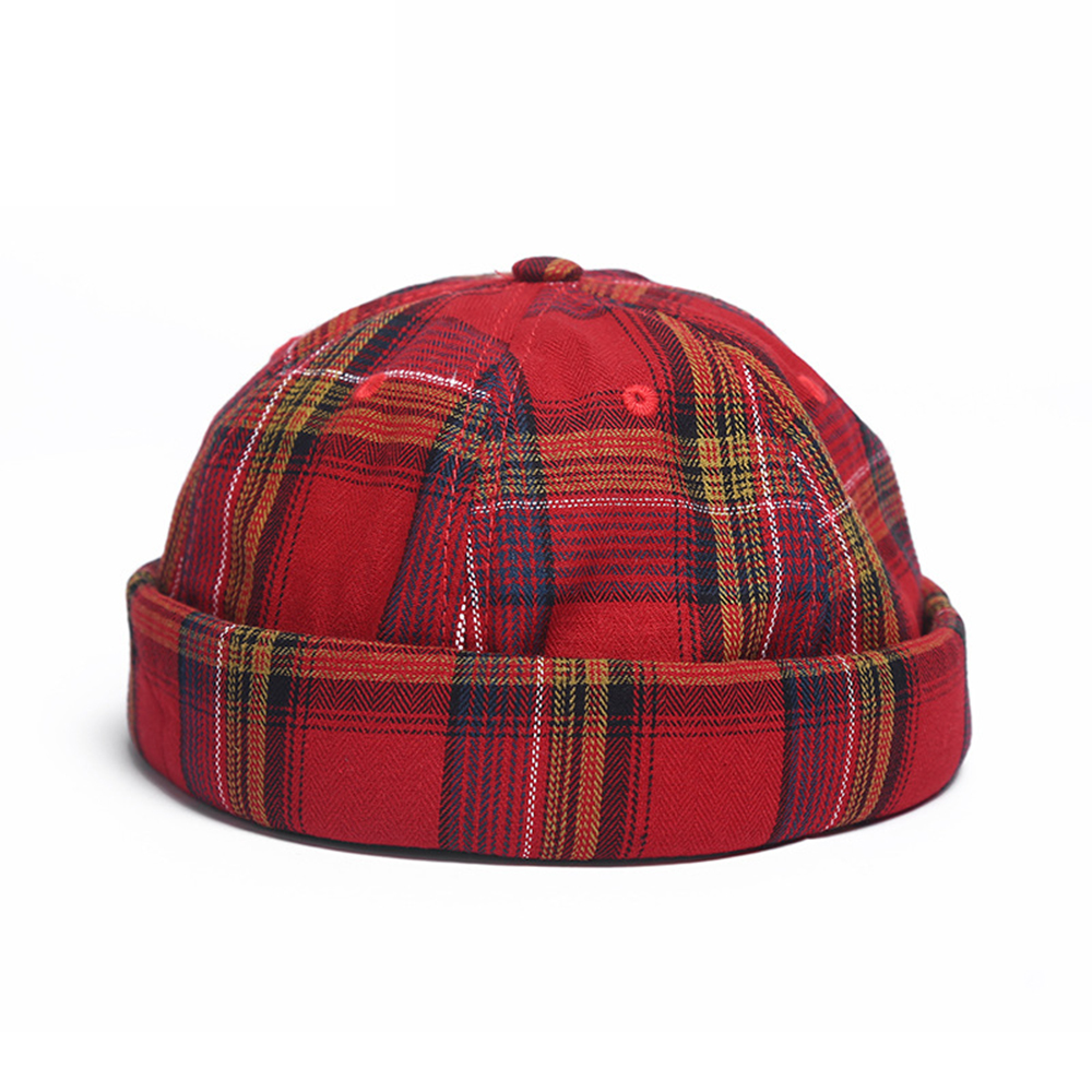 Landlord Cap Dome Cap Innocent Plaid Sailor Cap