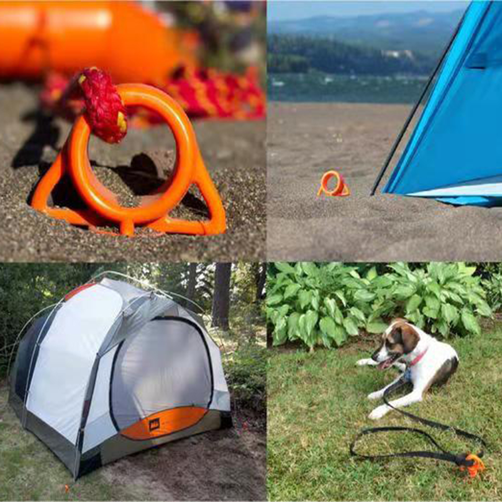 Plastic Spiral Screw Shape Tent Nail Hiking Camping Beach Tent Stakes Peg Nail w/ Clear Tube for Outdoor Travel