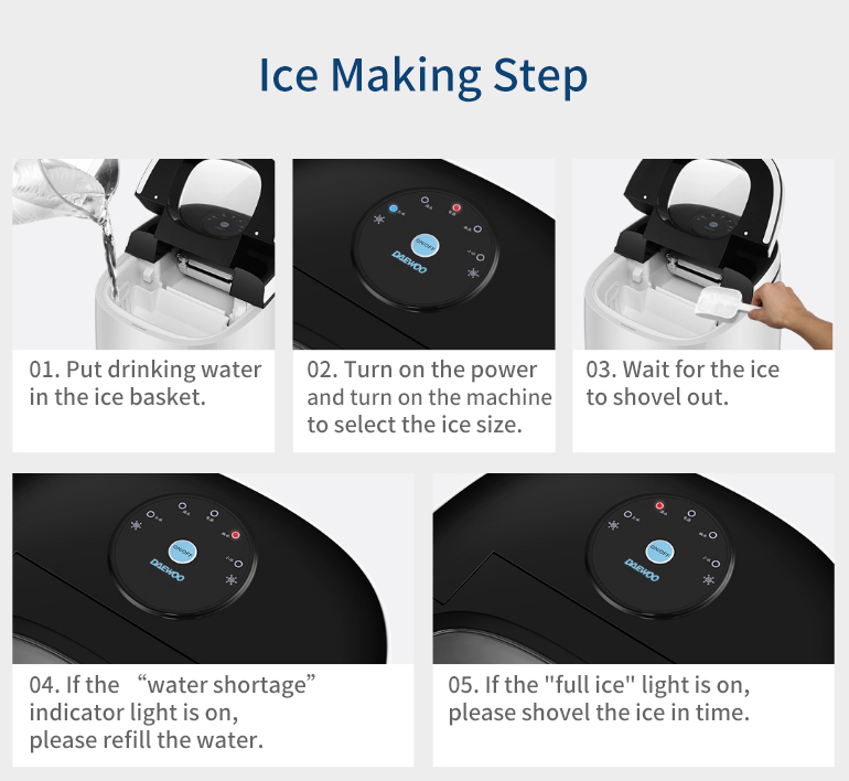 DAEWOO DYZB-A10 Fast Ice Maker Multi-purpose Smart Touch Energy Saving from Xiaomi Youpin