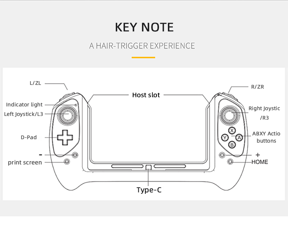 iPega PG-9163 Gamepad Game Handle Grip Controller for Nintendo Switch Game Console