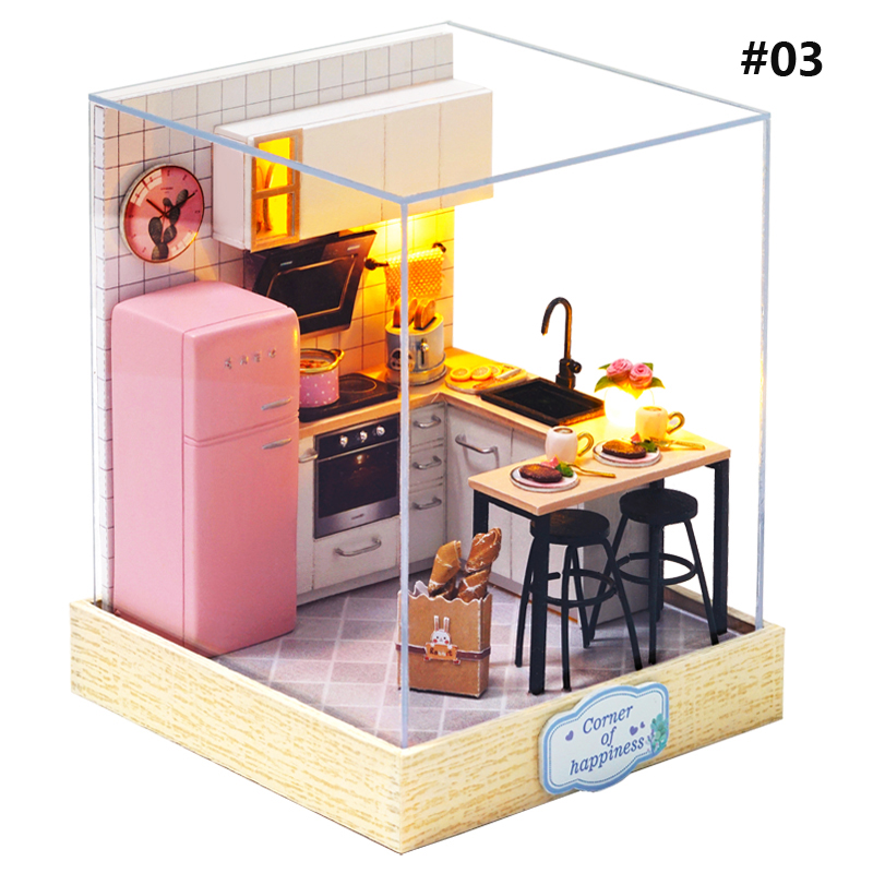 Cuteroom Corner of Happiness DIY Cabin Happiness One Pavilion Series Doll House With Dust Cover