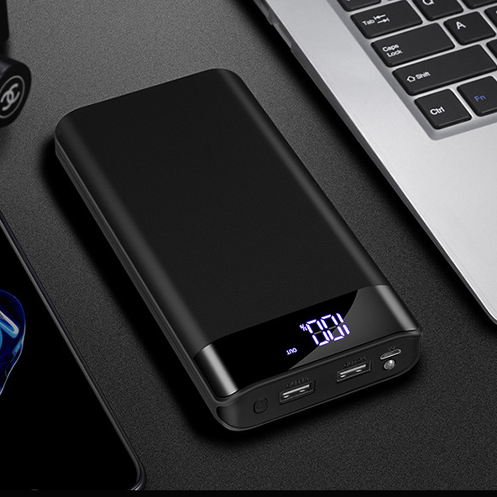 Bakeey 20000mAh Large Capacity Dual USB Output LED Dispaly Fast Charging Power Bank Case For iPhone X XS Oneplus 6P 7 7Pro Xiaomi Mi9 9Pro S10+ Note 10