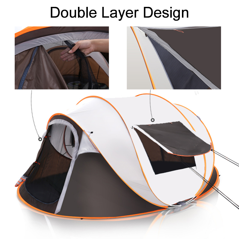 Outdoor Large Camping Tent UV Protection Moisture Proof Waterproof Full-automatic Tent Quick-opening Tent
