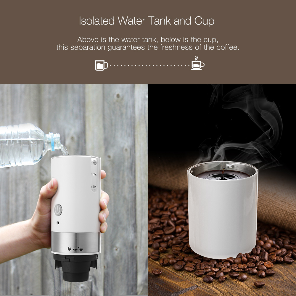 Digoo DG-CF01 Portable USB Electric Coffee Maker Automatic Coffee Machine Built-in Filter For Home Travel
