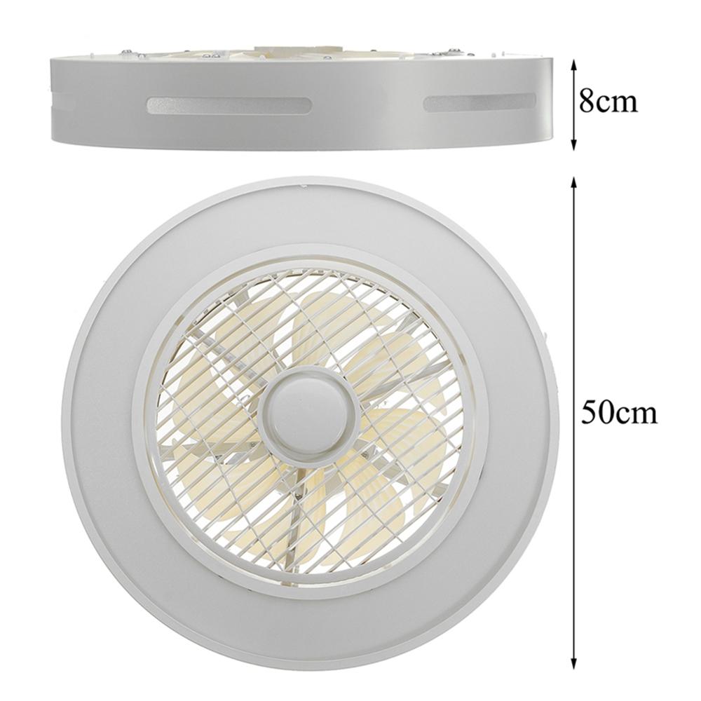 72W 80 LED Ceiling Fan Light Dimmable Lamp Timing 3 Gear Wind Speed Remote