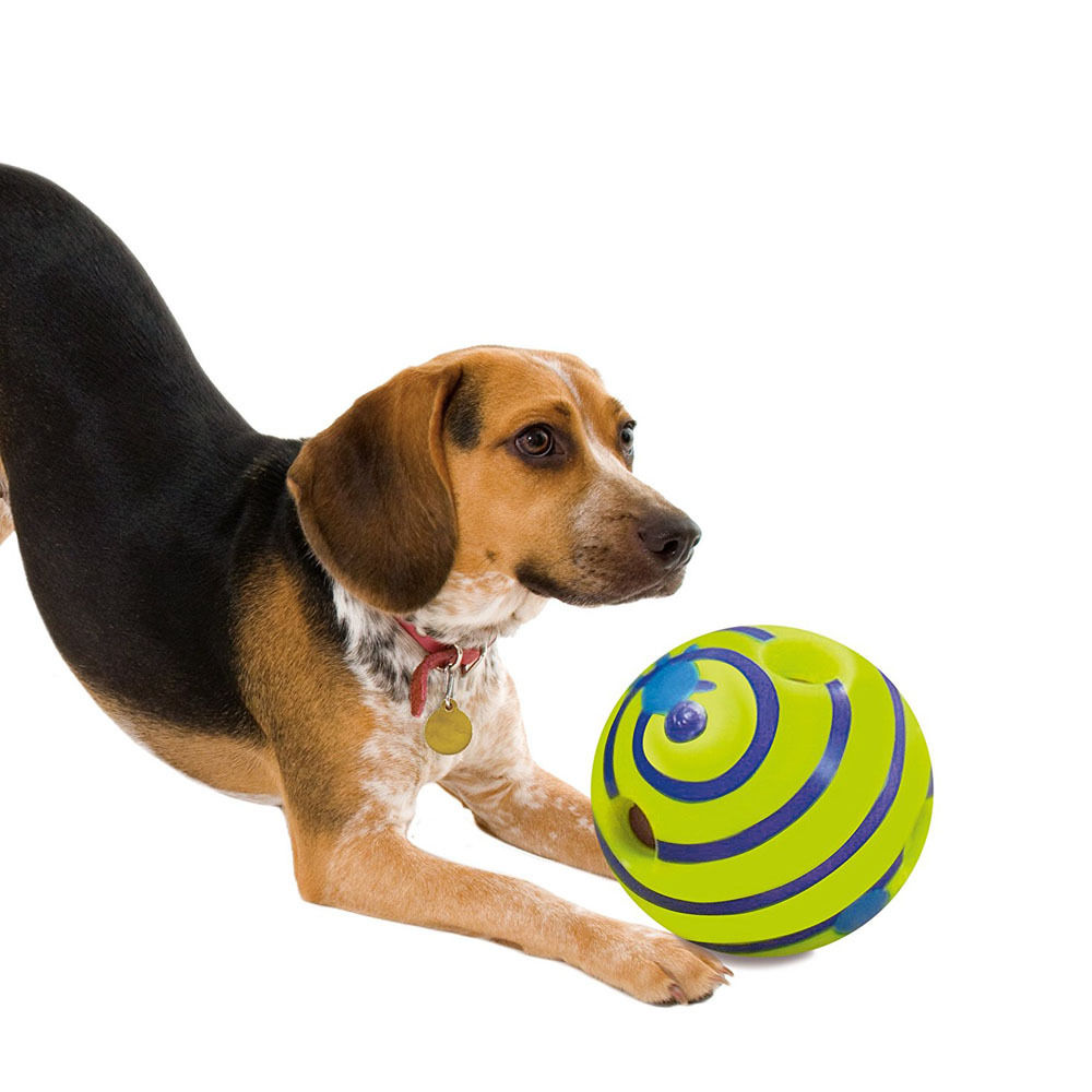 6 Inch Pet Dog Play Ball Training Chew With Funny Sound Toys Squeaky Giggle Ball