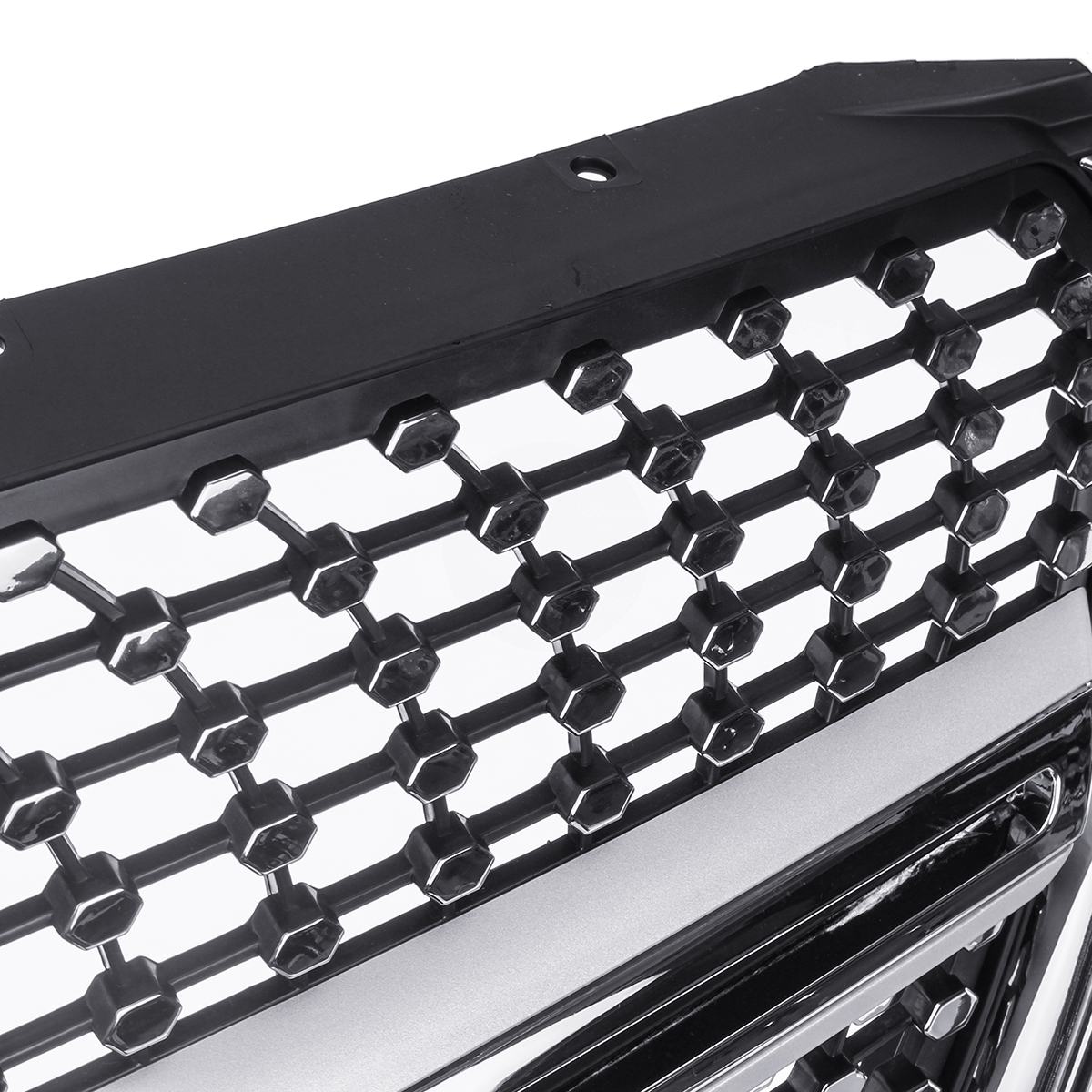 Silver Diamond Style Front Bumper Grille Grill For Mercedes Benz V class W447 15-18