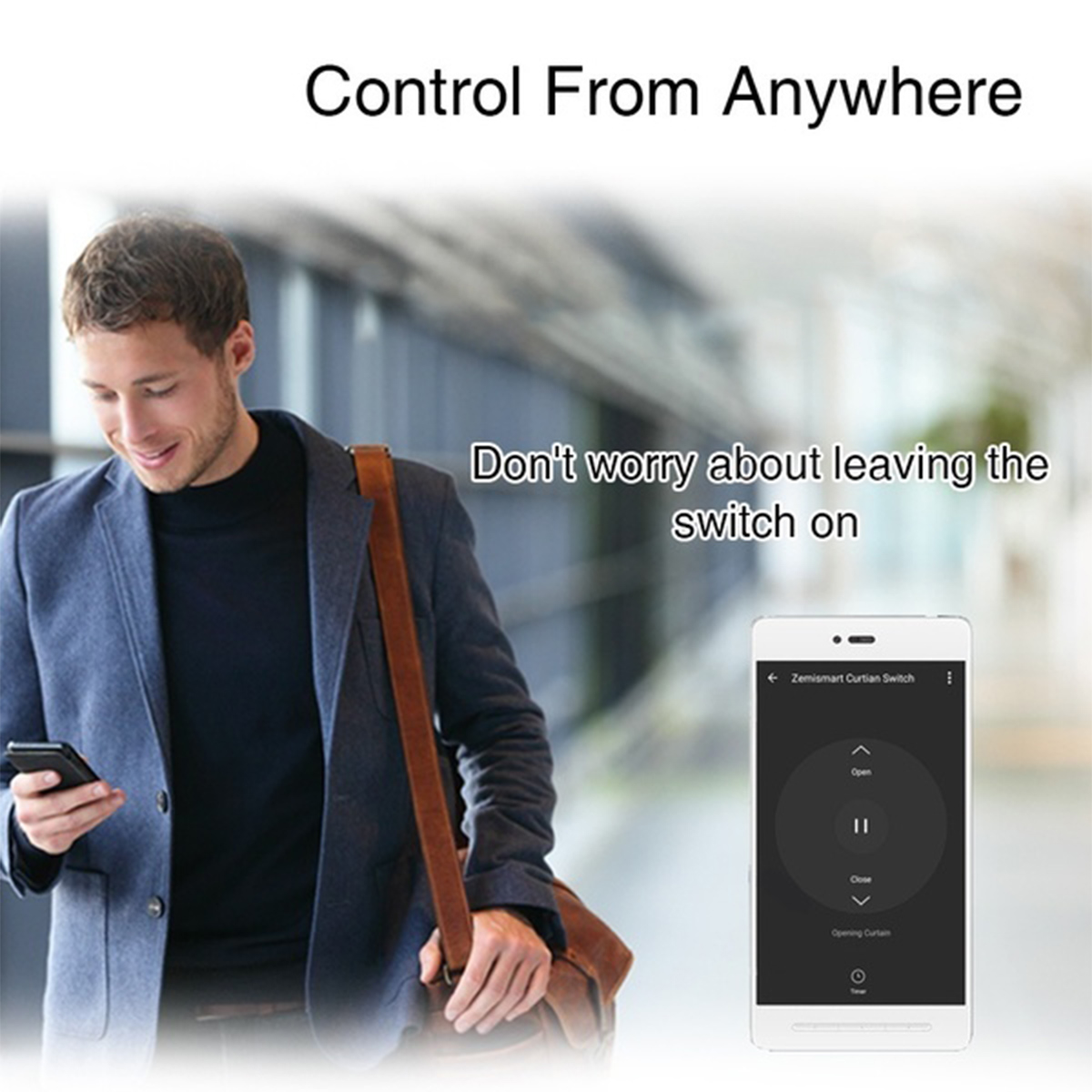 WiFi Wall Smart Curtain Switch Touch Panel Phone APP Control Roller Shutter Timer Switch Support Alexa Google Home