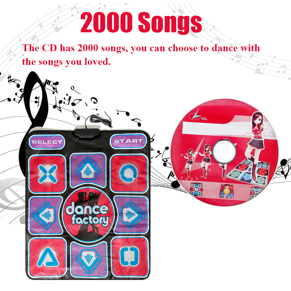 Non-Slip Single Dance Pad Step Dancing Non-slip Mats for PC Computer USB Game Sport Music
