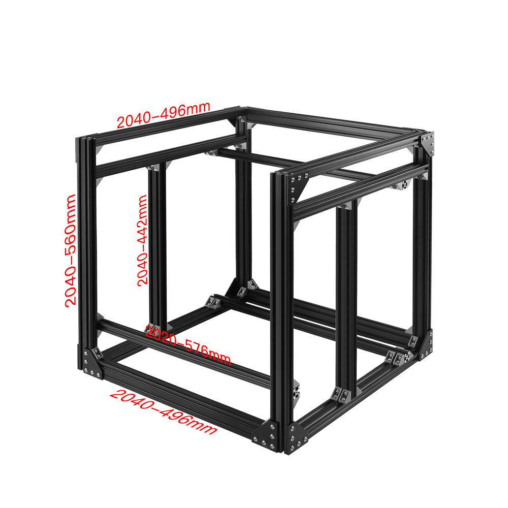 TWO TREES® 560mm*496mm Z-height 2040 Aluminum Profile BLV mgn Cube Frame & Hardware Kit For 3D Printer Part