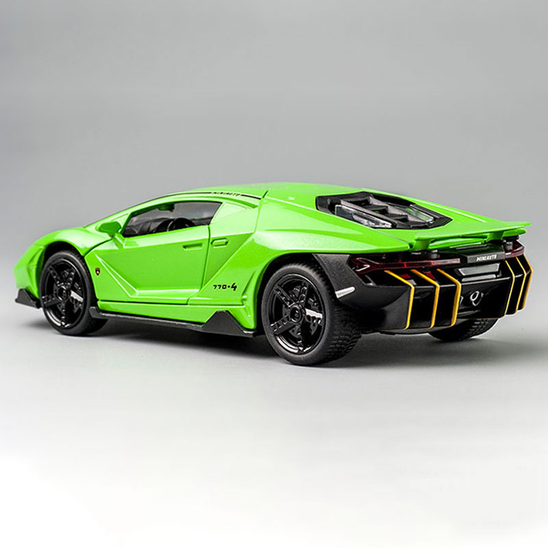 1:32 Alloy Centenario LP770 Multicolor Super Racing Car with Sound Light Diecast Model Toy for Children Gift - Photo: 6