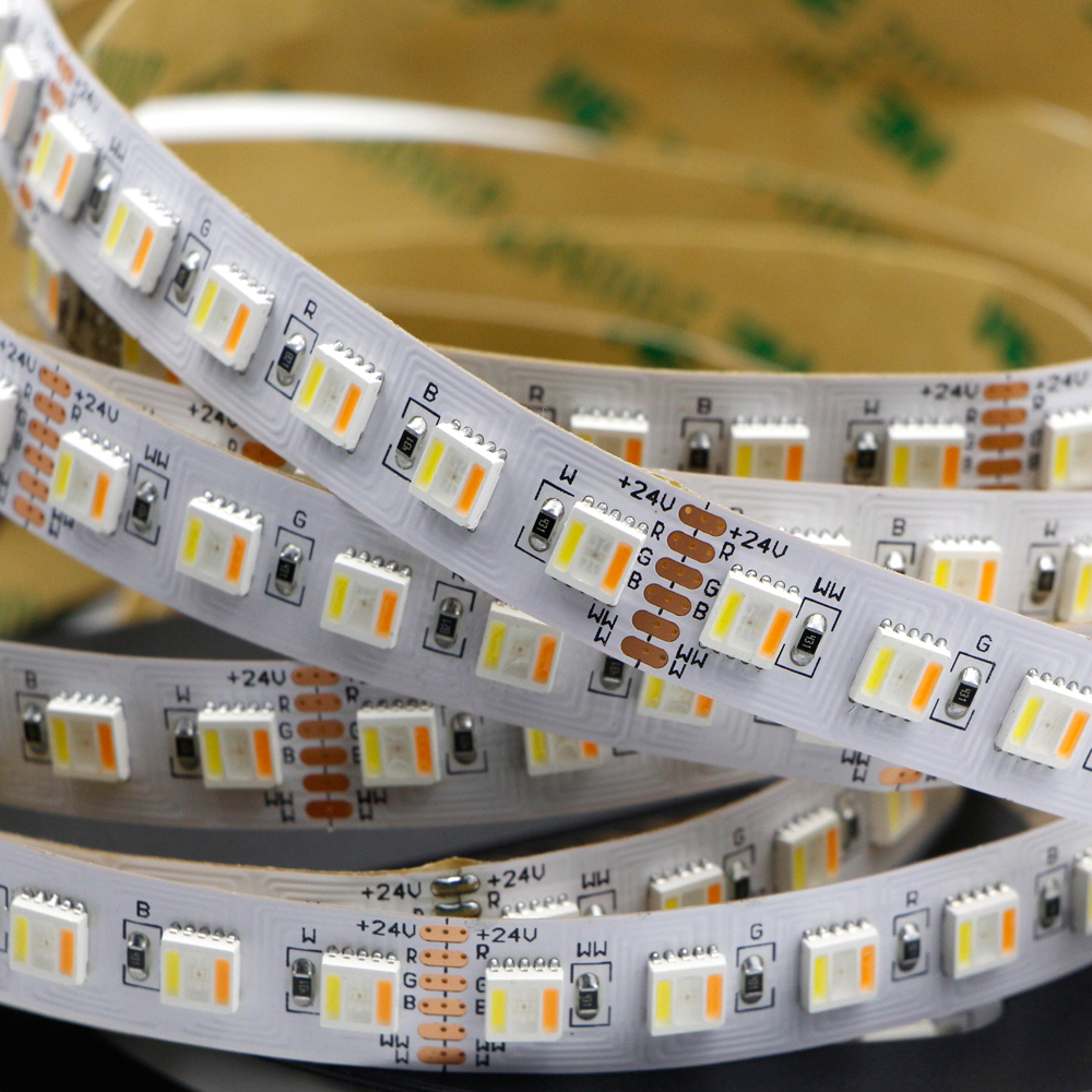 DC24V 5IN1 RGB+CCT Non-waterproof LED Strip Light 5050 Flexible Tape Indoor Lighting Home Lamp Decor