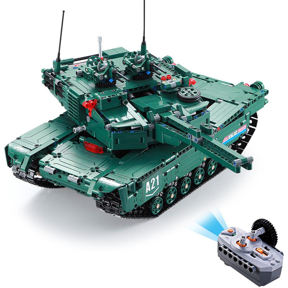 CaDA C61001 C61002 1/20 2.4G DIY Building Block BM21 Rocket Launcher RC Car M1A2 Tank without Battery
