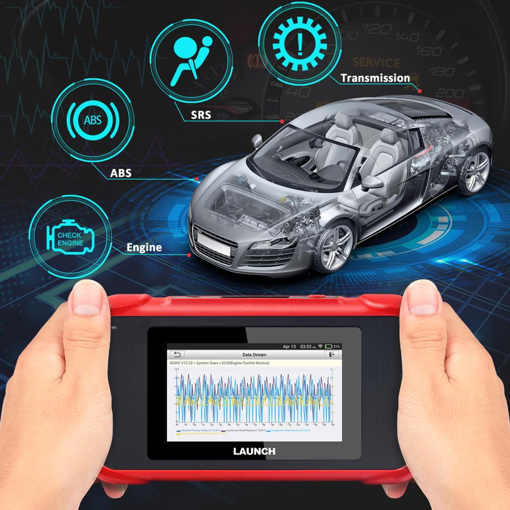 Launch X431 CRP129E Car Code Creader VIII OBD2 EOBD 4 System Diagnostic Scanner Tool For ENG/AT/ABS/SRS Multi-language Free Update