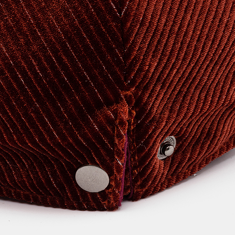 Solid Color Corduroy Beret Fashion Casual Warm Hat