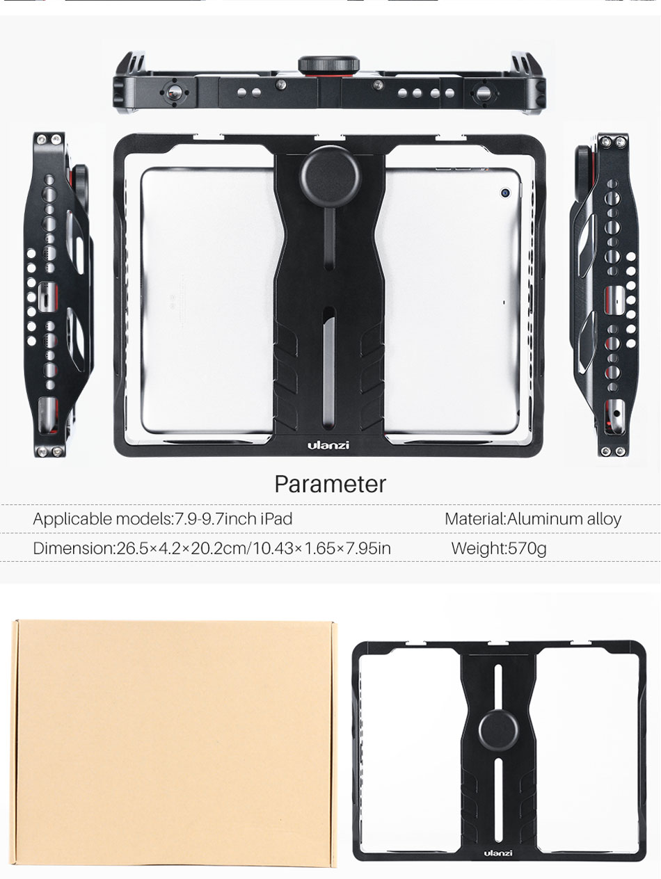 Ulanzi U-Pad Metal Filmmaking Rig Holder Stabilizer for Pad Phone with Cold Shoe for Microphone LED Video Light