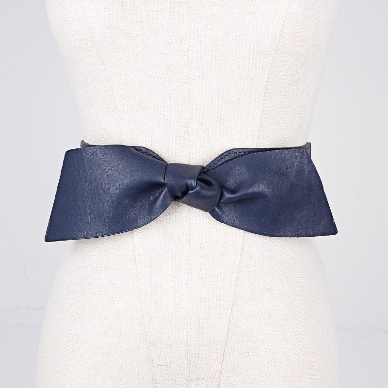 Skirt Decoration Bow PU Belt