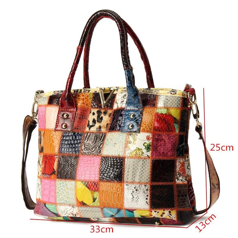 Women Genuine Leather Vintage Tote Large Capacity Handbag