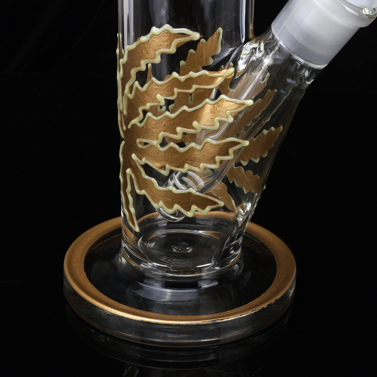 18 Inch Luminous Glass Joint Pipes Bubblers for Smoking Recycler Glass