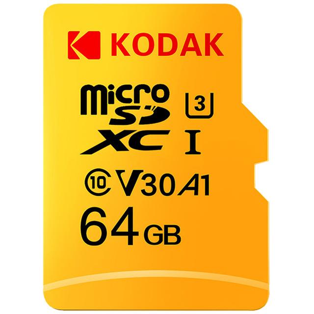KODAK Micro SD Memory TF Flash Card 64GB 128GB U3 A1 V30 Micro SDHC Card SDXC Card for Video and Mobile Storage