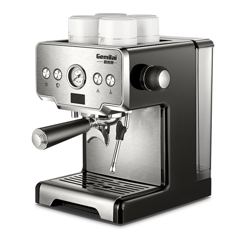 Gemilai CRM3605 Coffee Maker Machine Stainless Steel Coffee Machine 15 Bars Semi-automatic Commercial Italian Coffee Maker