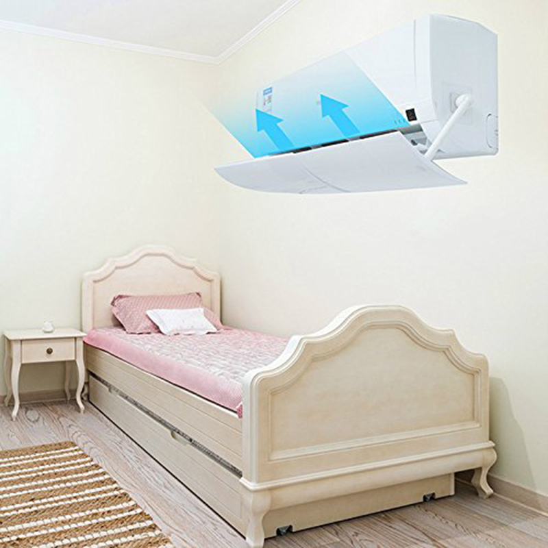 Loskii Home Air Conditioner Wind Shield Adjustable Windshield Shield Confinement Air Conditioning Baffle Prevents Direct Wind for the Bedroom