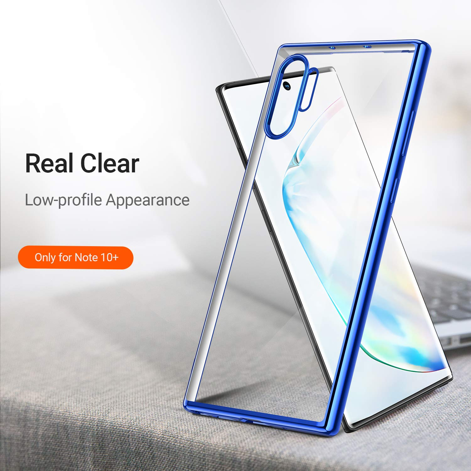 Bakeey Plating Transparent Protective Case For Samsung Galaxy Note 10/Note 10 5G/Note 10 Plus Note 10+ 5G Clear Soft TPU Back Cover