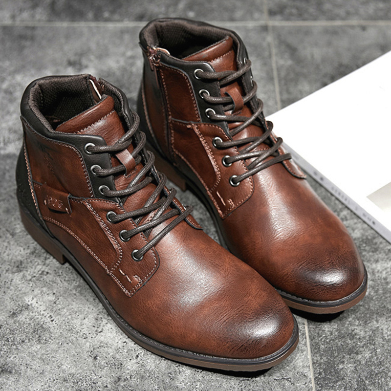 Vintage Non-Slip Wear Resistant Casual Soft Leather Boots