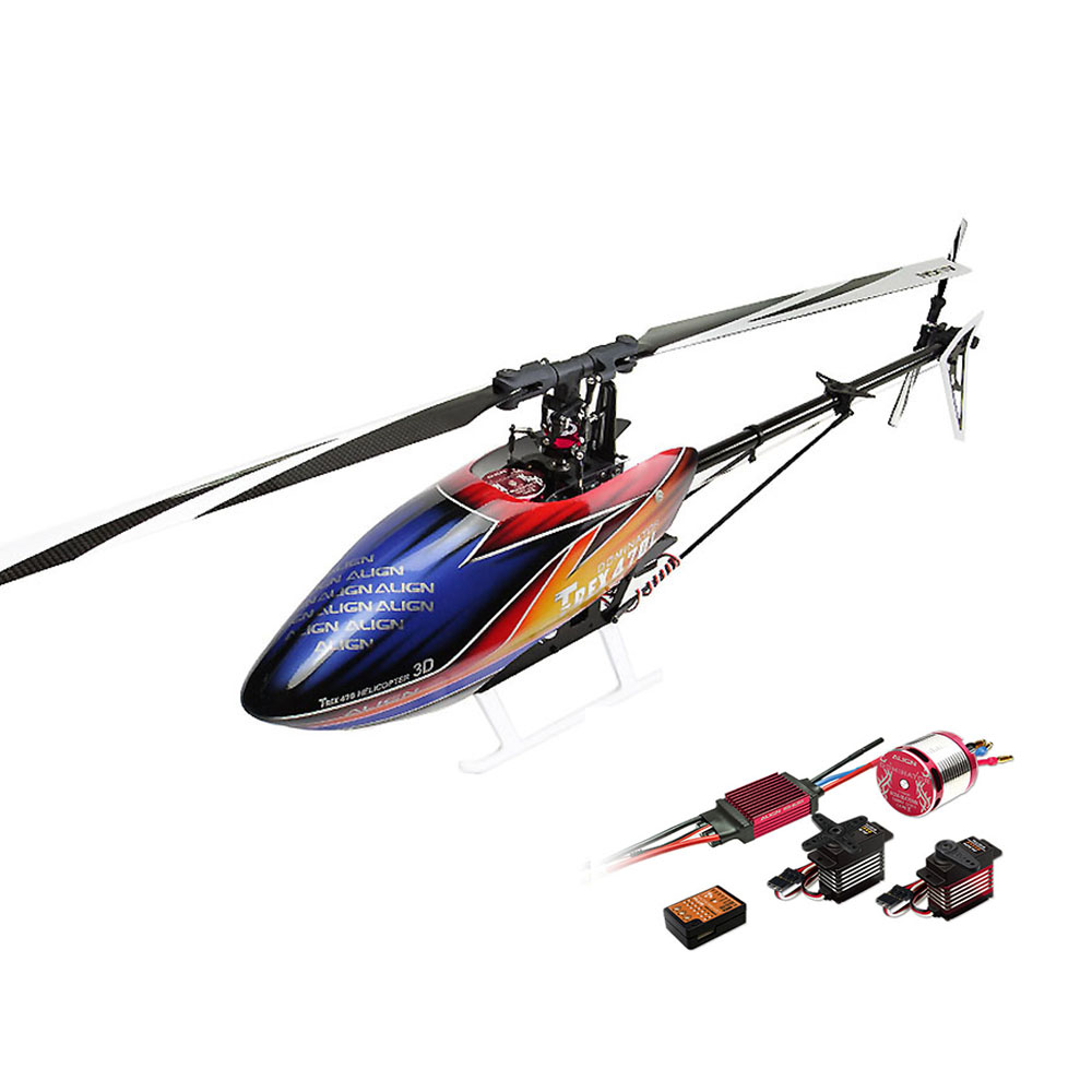 ALIGN T-REX 470LP DOMINATOR 6CH 3D Flying RC Helicopter Super Combo With 1800KV Brushless Motor 50A ESC Digital Servos