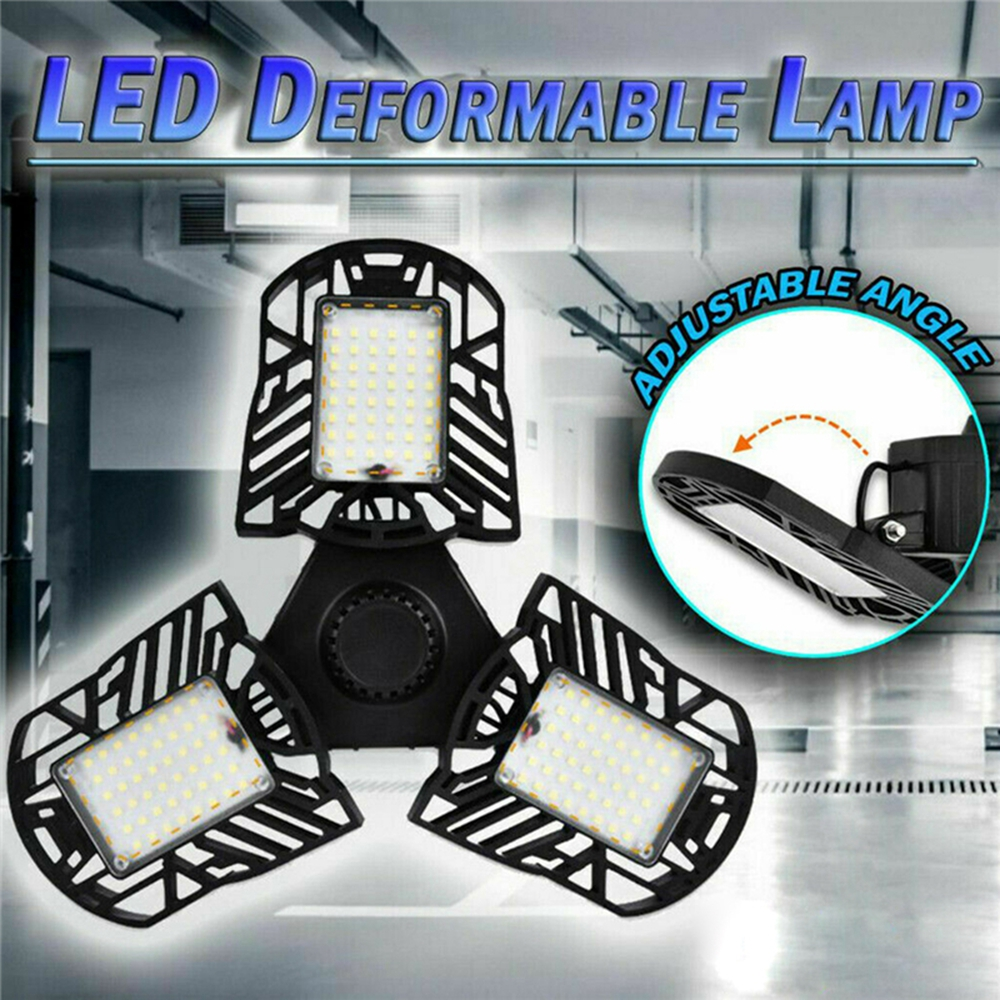 60W E27 Deformable LED High Bay Light Industrial Warehouse Factory Flood Lamp 7000LM