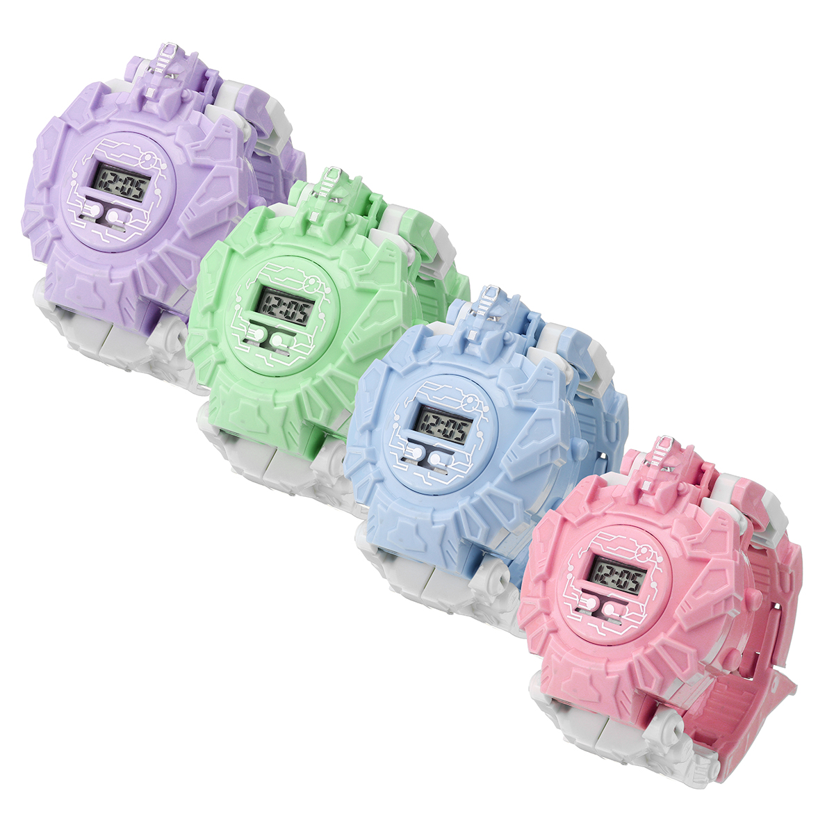 Children's Electronic Multi-color Deformation Novelties Watch Toys for Kids Gift - Photo: 3
