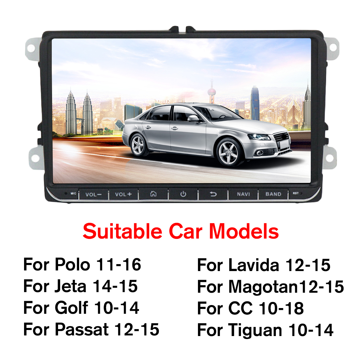 9 Inch 2DIN for Android 8.1 HD Car Multimedia Player Quad Core 1G+16G Touch Screen Car Radio Stereo bluetooth FM AM DAB DTV USB for VW/Skoda Seat
