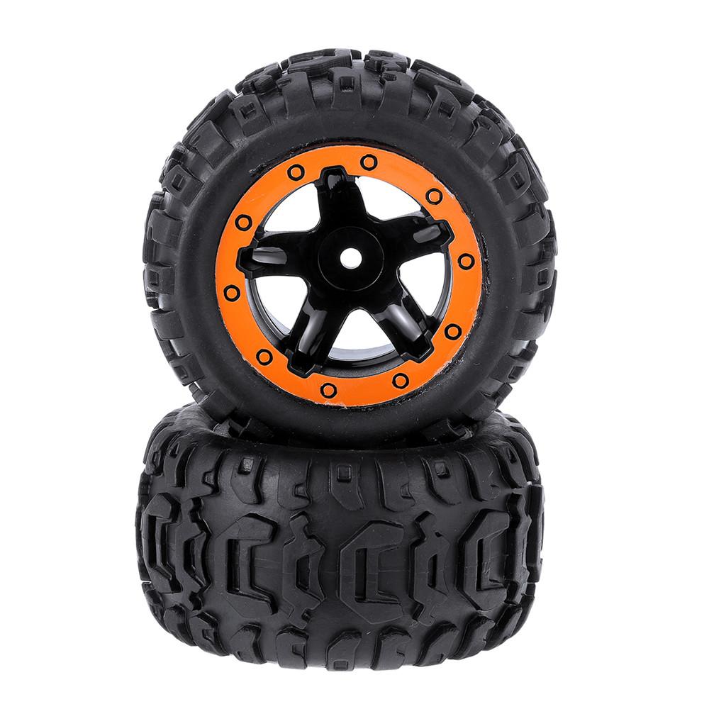2PCS Tires & Wheels Rims for HBX 16889 1/16 RC Car Vehicles Spare Parts M16038 - Photo: 6