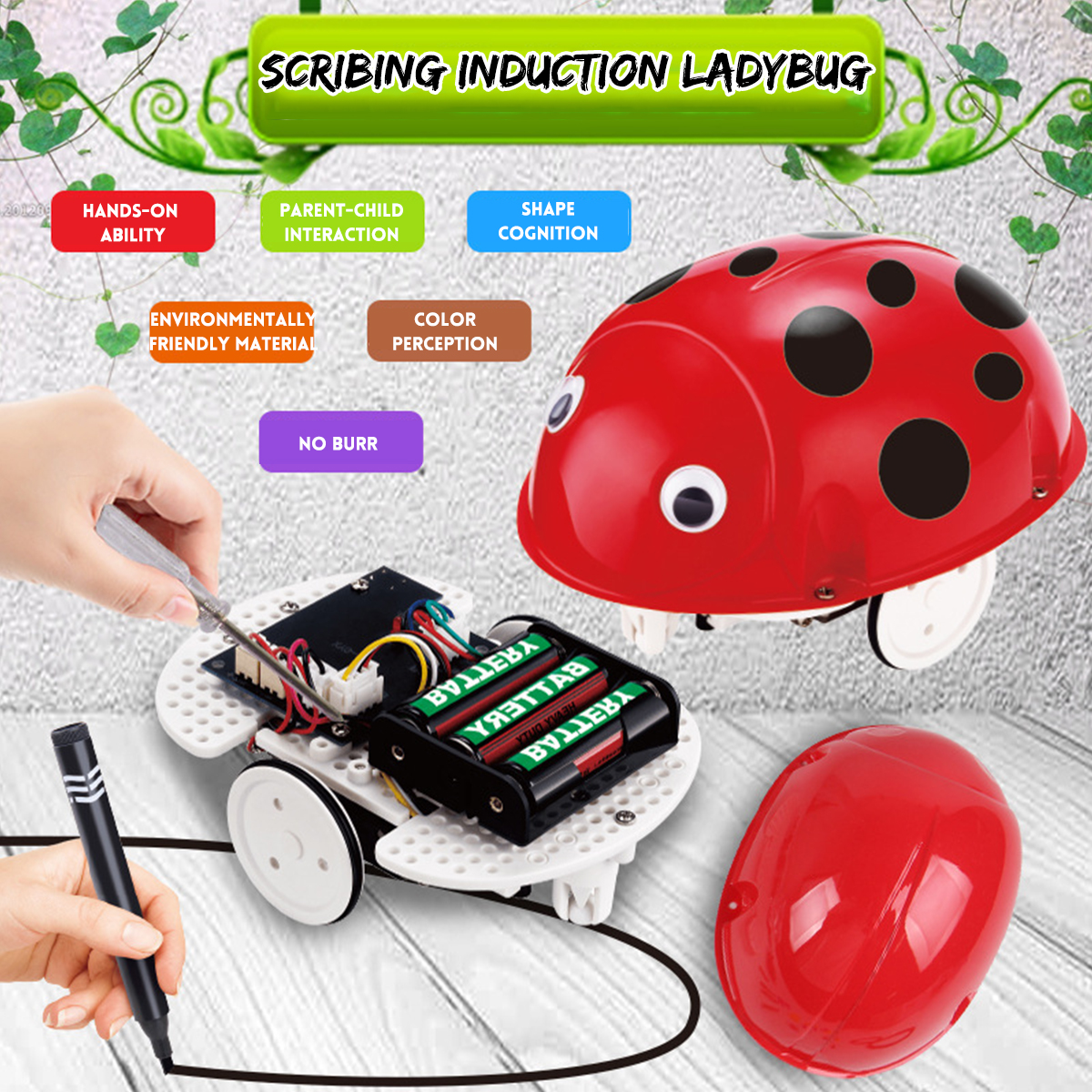 Robot Toys Educational Pen Inductive Toy Follow Any Drawn Line Cute Gift for Children - Photo: 2