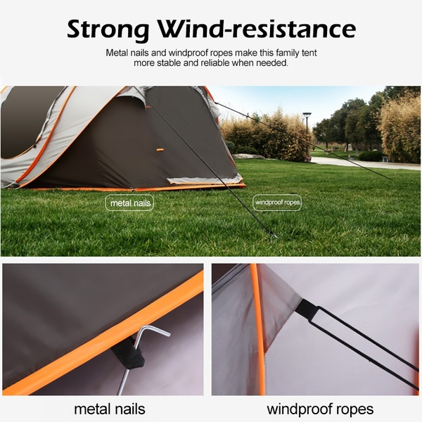 IPRee® Auto Setup Tent For 5-8 Person 3 IN 1 Waterproof UV Resistance Large Camping Tent Sun Shelters Outdoor Easy Setup