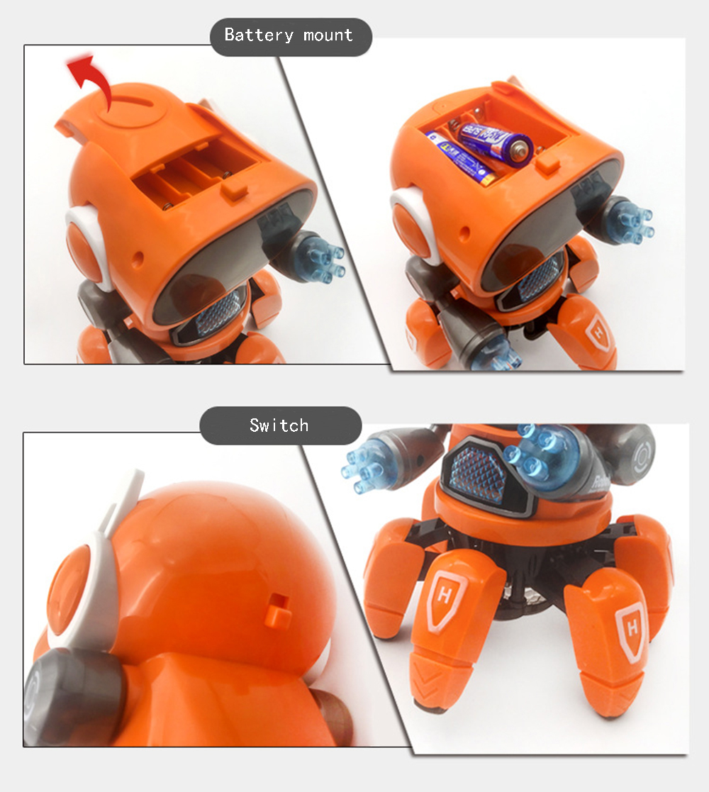 DIY 6-Legged Smart RC Robot Toy Sing Dance Robot Toy With Colorful Light - Photo: 9