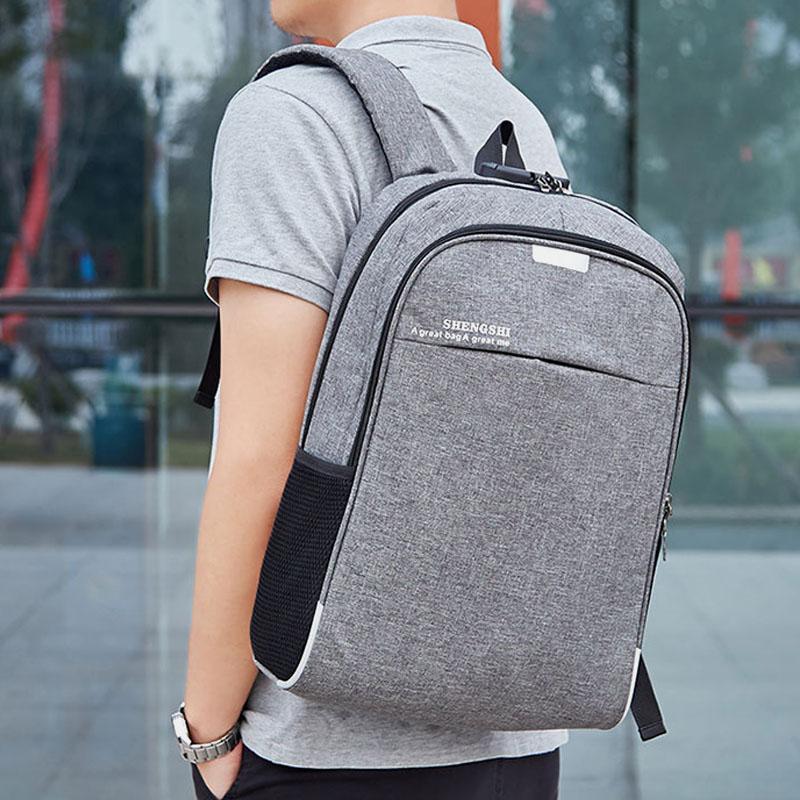 Men Large Capacity USB Anti-Theft Backpack