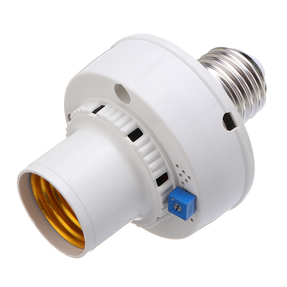 AC220V 100W E27 Sound-controlled Clap Turn On Off Bulb Adapter Light Socket For LED CFL Light