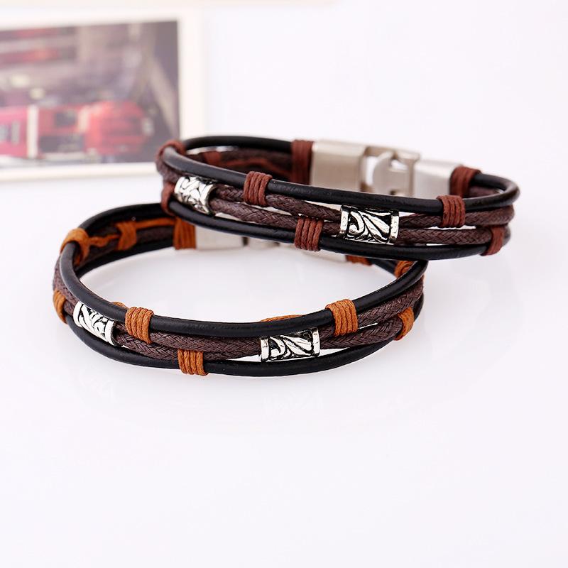 Punk Leather Multilayer Bracelet