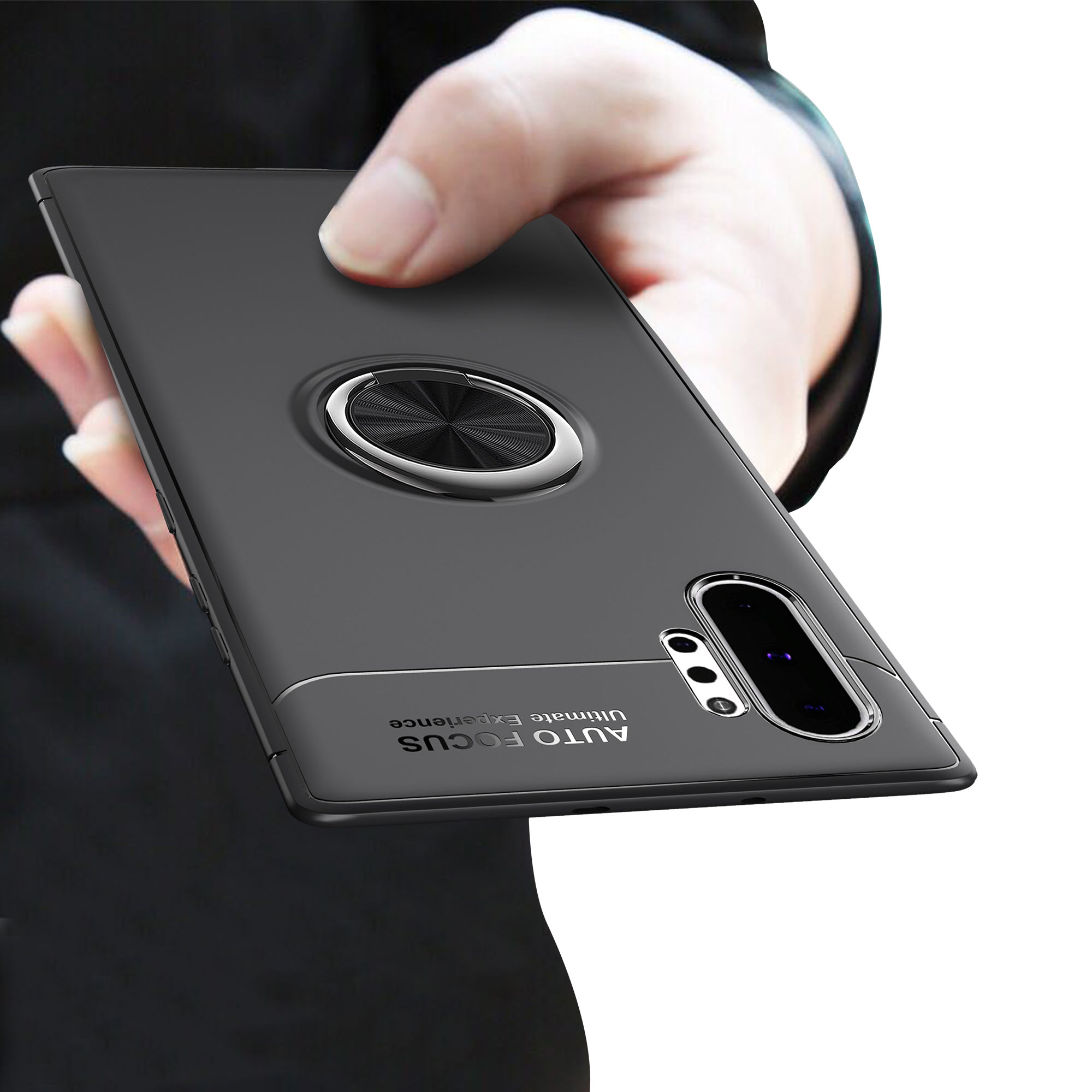 Bakeey Protective Case For Samsung Galaxy Note 10 Plus/Note 10+/Note 10+ 5G 360º Rotating Ring Grip Bracket Back Cover