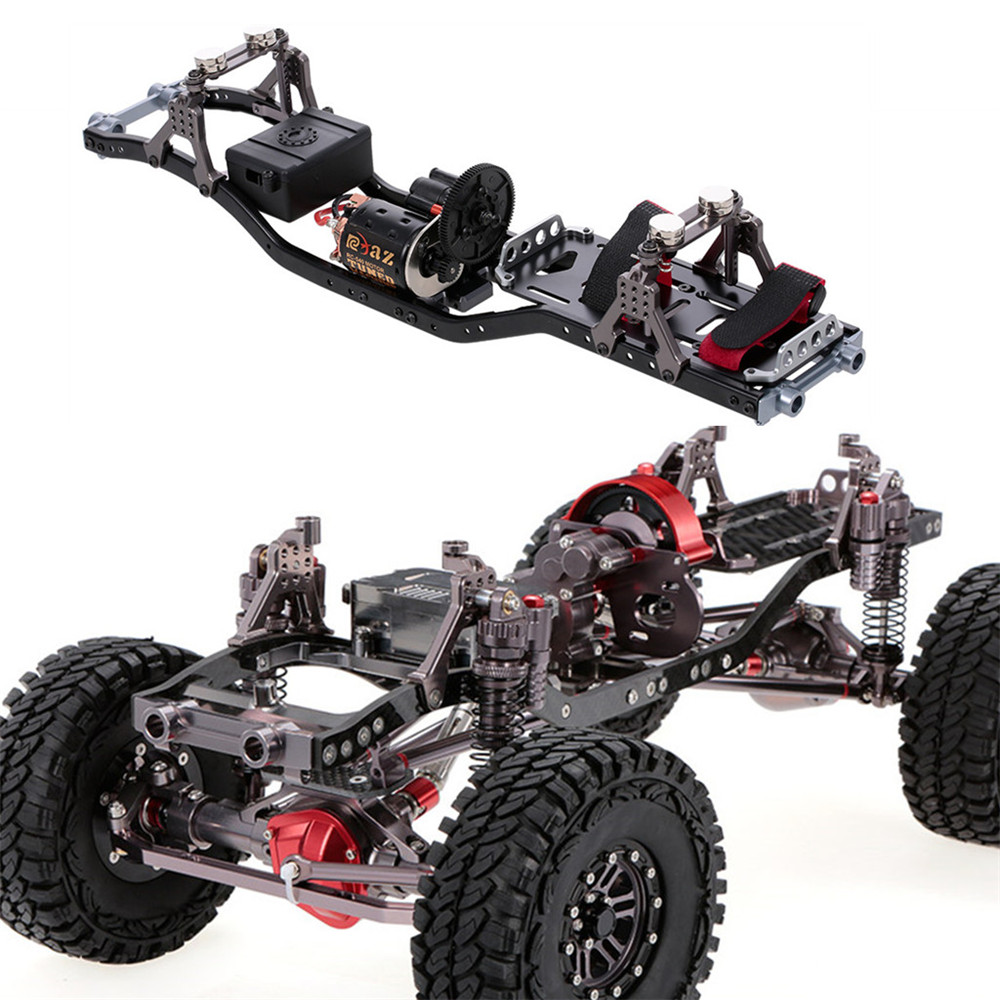 Metal RC Car Frame With Gear Box 55T Motor For Axial Scx RC Car Vehicle Models Parts - Photo: 12