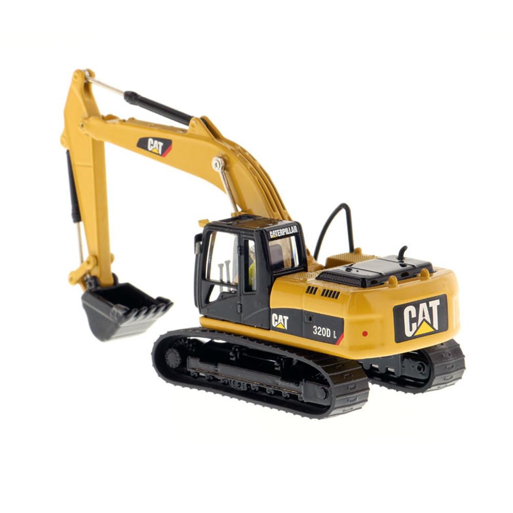 Modèle de jouet moulé sous pression de camion d'alliage de machine de crochet de Caterpillar 320D L 1/87 hydraulique de camion de DM de moule