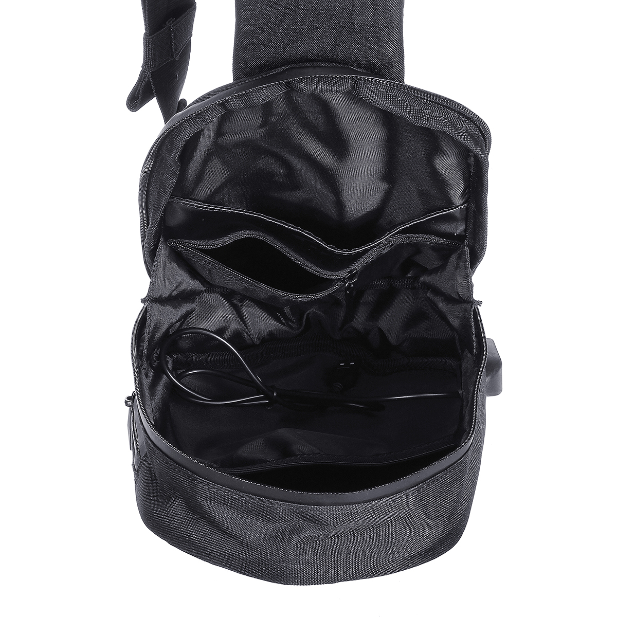 BEABORN Polyhedron PU Backpack USB Bag Waterproof Colorful Leisure Sports Chest Pack Bags For Mens Women Travel Camping from xiaomi youpin