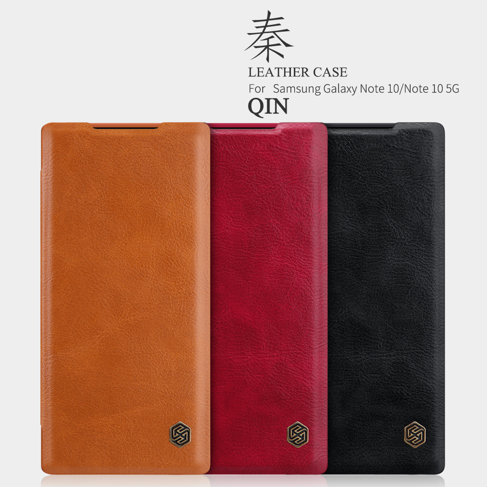 NILLKIN Flip Shockproof Card Slot Holder Full Cover PU Leather Vintage PC Protective Case for Samsung Galaxy Note 10 / Note 10 5G