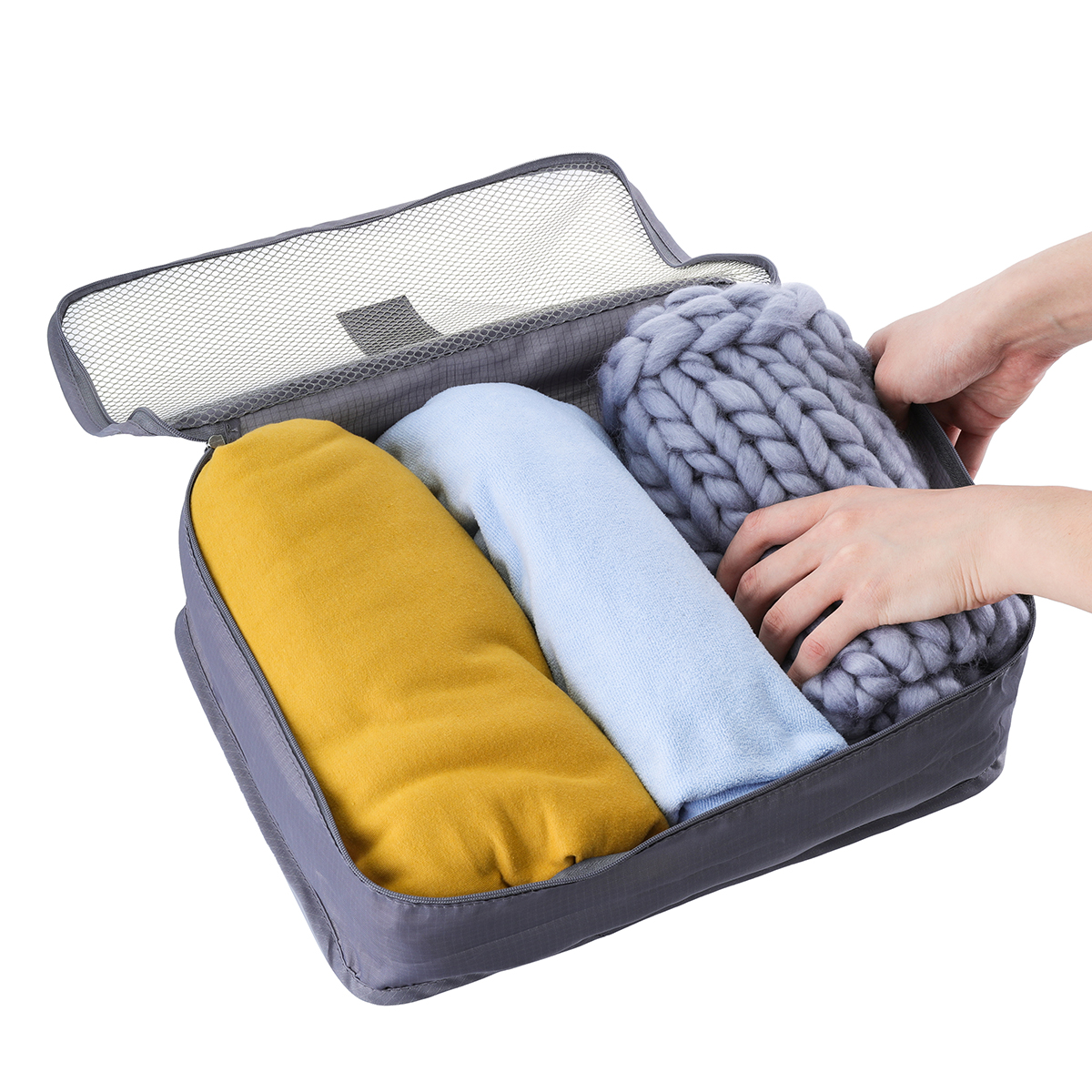 SaicleHome 6 PCS Oxford Travel Waterproof Storage Bag Large Capacity Folding Bag Oxford Container
