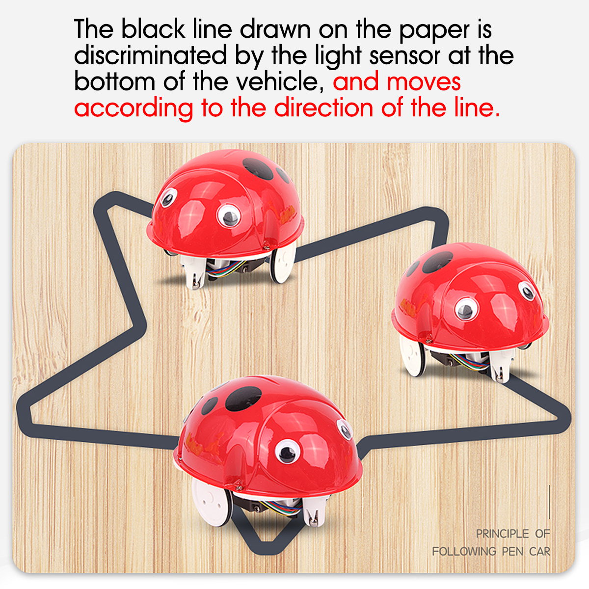 Robot Toys Educational Pen Inductive Toy Follow Any Drawn Line Cute Gift for Children - Photo: 3