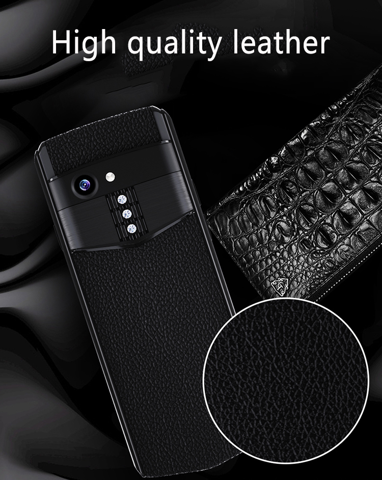 Anica K-Touch M17 Mini 4G Smartphone With Google Play 3.5 Inch 2300mAh Android 8.1 Face Unlock Wifi Hotspot BT Dialer Dual SIM Card Luxury Leather Mini Card Phone