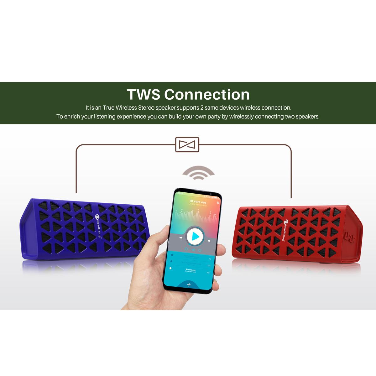 Wireless Speaker Bluetooth 5.0 Support 32G TF Card 1200mah Wireless Stereo - Photo: 5